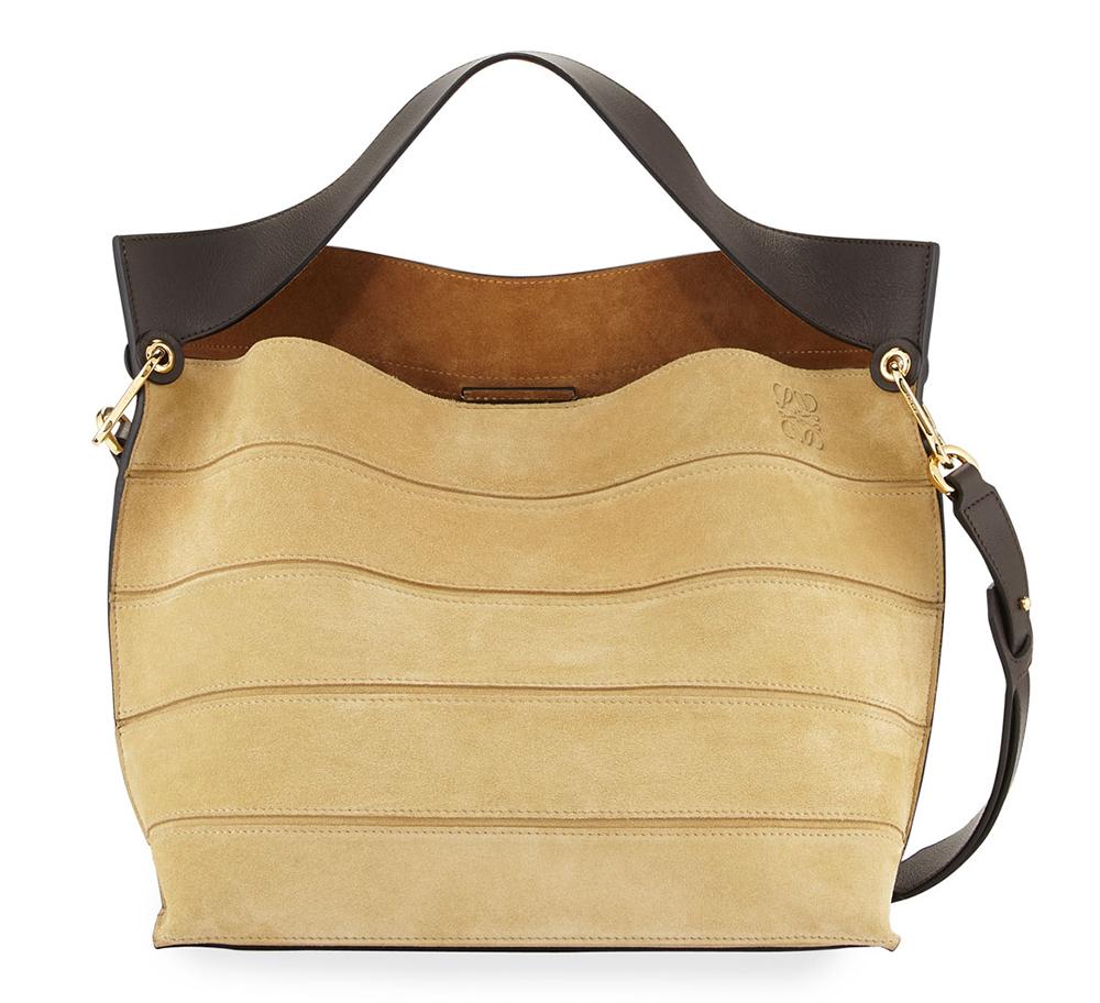 Loewe-Strip-Suede-Shoulder-Bag