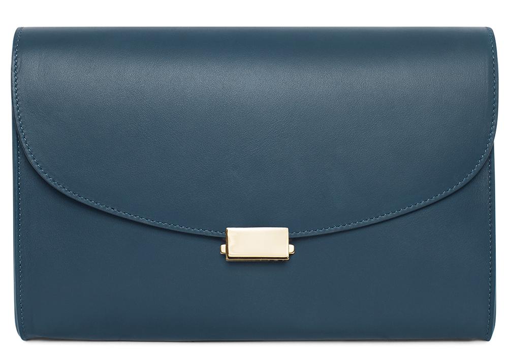Mansur-Gavriel-Flat-Clutch-Blu-Leather