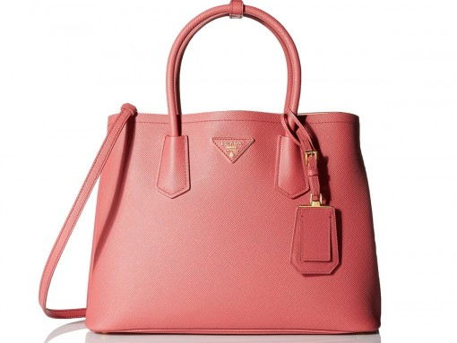 Prada Double Bag in Tamaris and Pesca