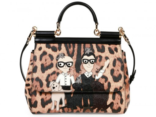 Dolce and Gabbana Miss Sicily Stefano Domenico Leopard-Print Satchel