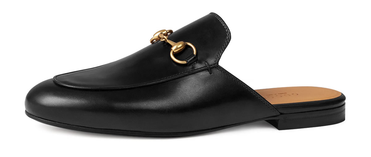 Flat Leather Mule Shoes