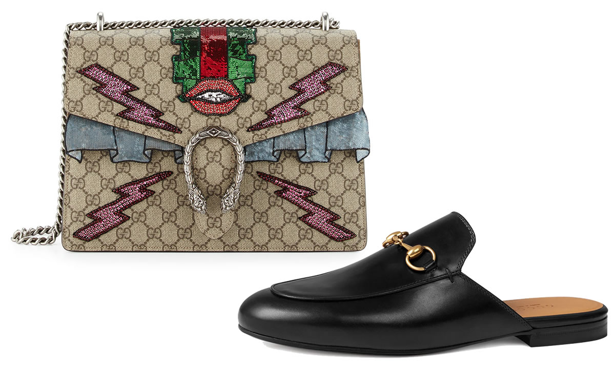 Gucci perfect pairs Dionysus and Mules
