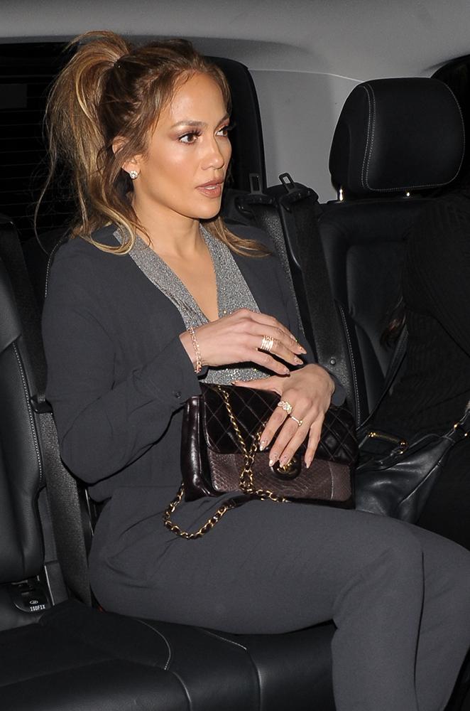 Jennifer-Lopez-Chanel-Python-Classic-Flap-Bag