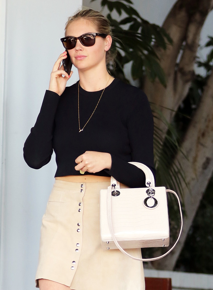 Kate-Upton-Dior-Lady-Dior-Crocodile-Bag