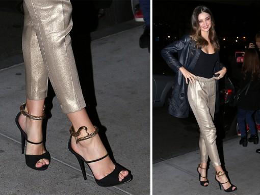 Miranda-Kerr-Giuseppe-Zanotti-Snake-Wrap-Sandals