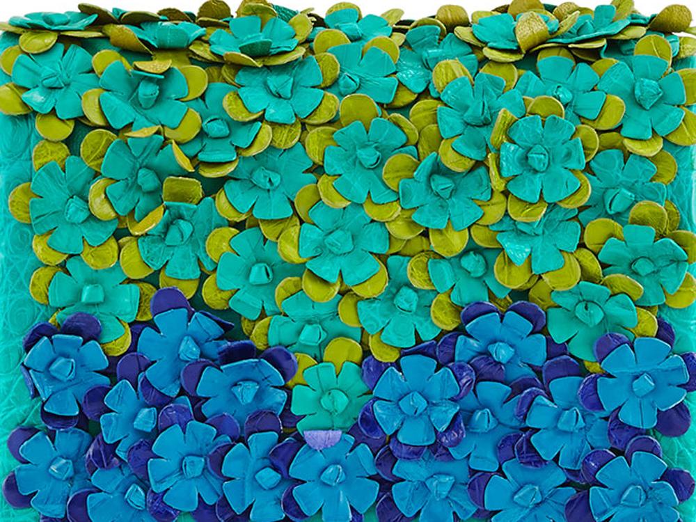 Nancy-Gonzalez-Crocodile-Floral-Applique-Bag