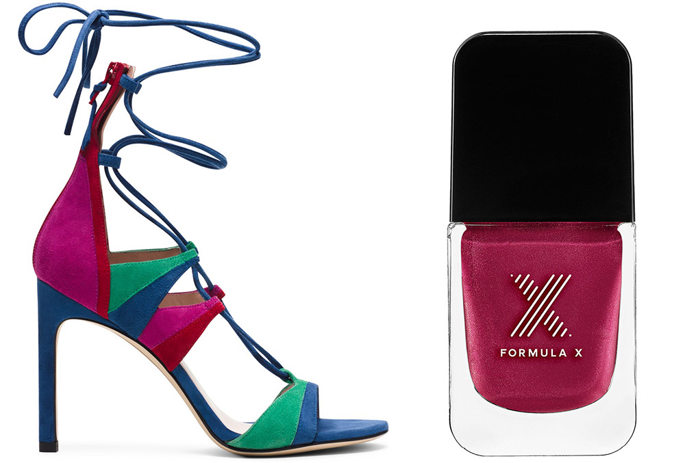 Stuart Weitzman The Legwrapsong Sandal $498 via Stuart Weitzman  Formula X Spectacle Matte Metallic Raspberry Nail Color $12.50 via Sephora