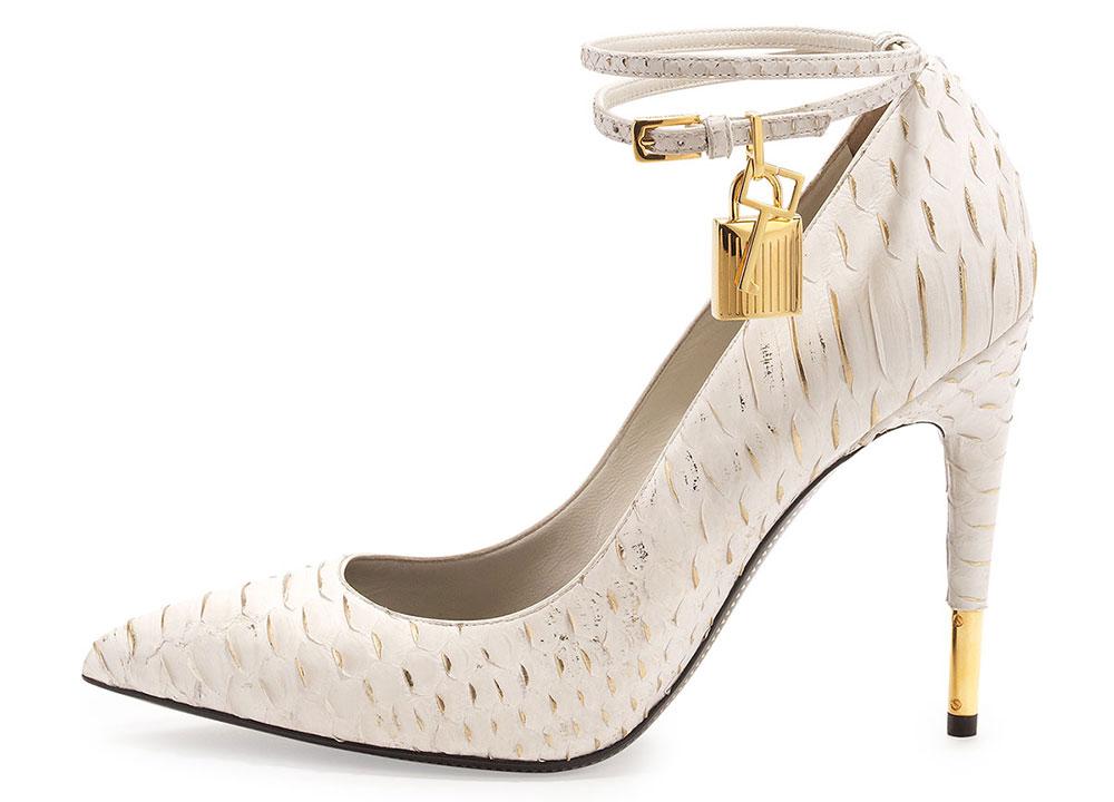 Tom Ford Python Ankle-Wrap Padlock Pump $1,590 via Bergdorf Goodman