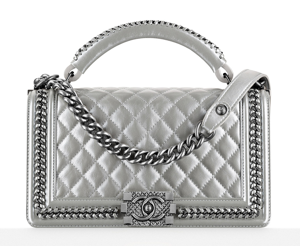 Chanel-Boy-Bag-With-Handle-Silver-5300