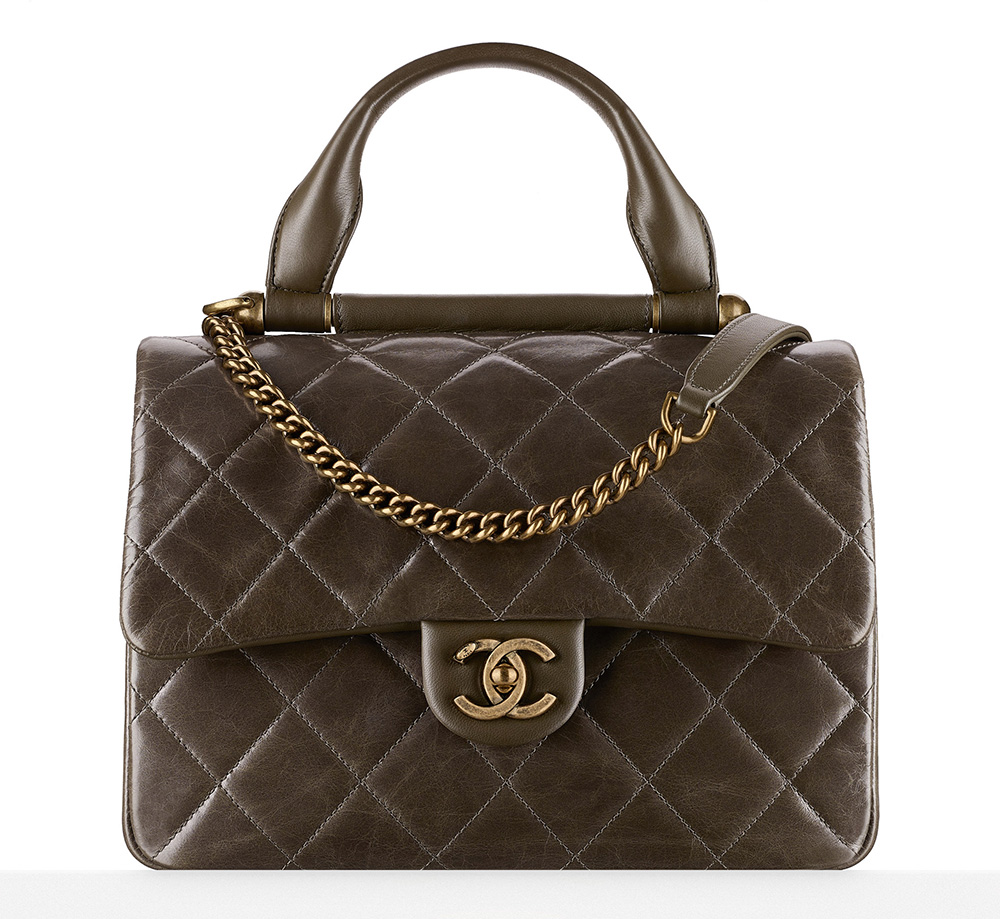 Chanel-Flap-Bag-With-Handle-Brown-3100