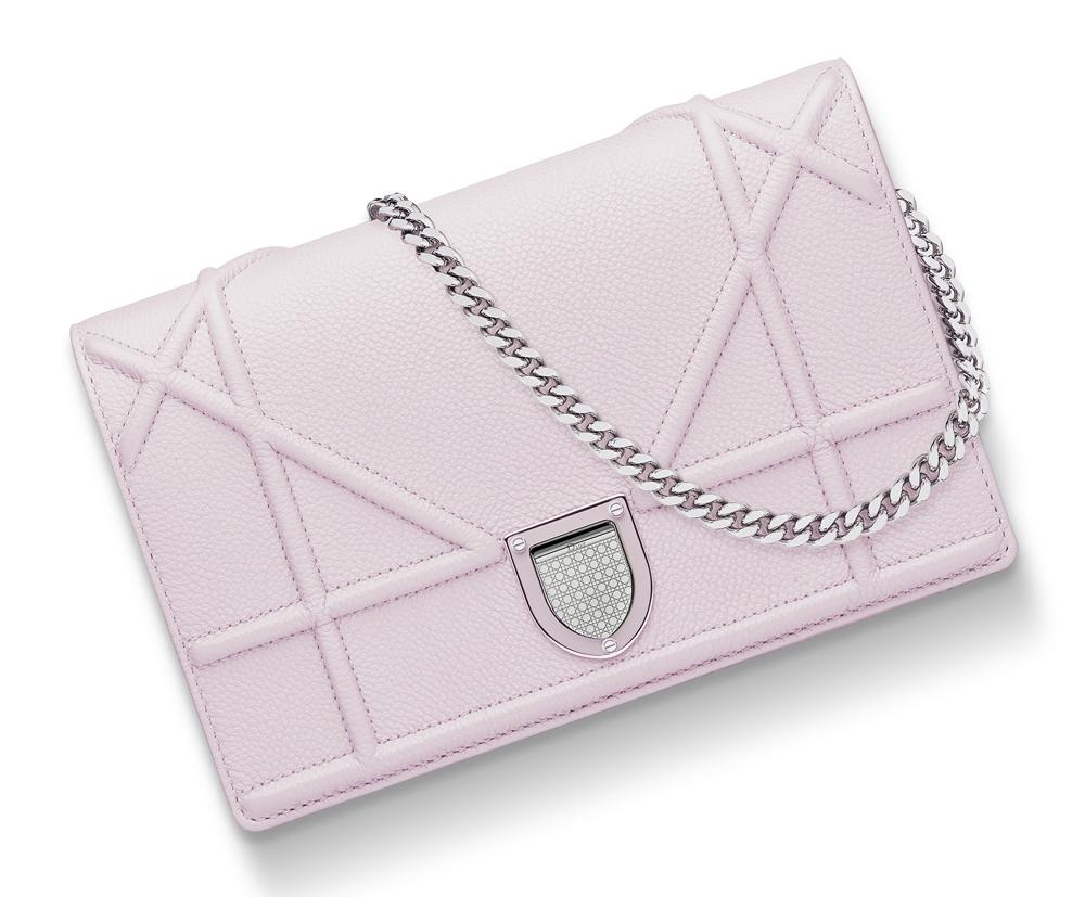 Christian-Dior-Diorama-Chain-Wallet-Pink