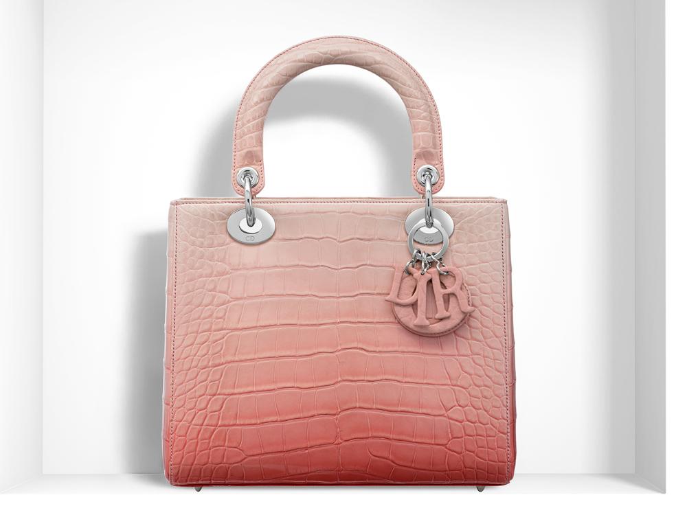 Christian-Dior-Lady-Dior-Bag-Pink-Ombre-Alligator