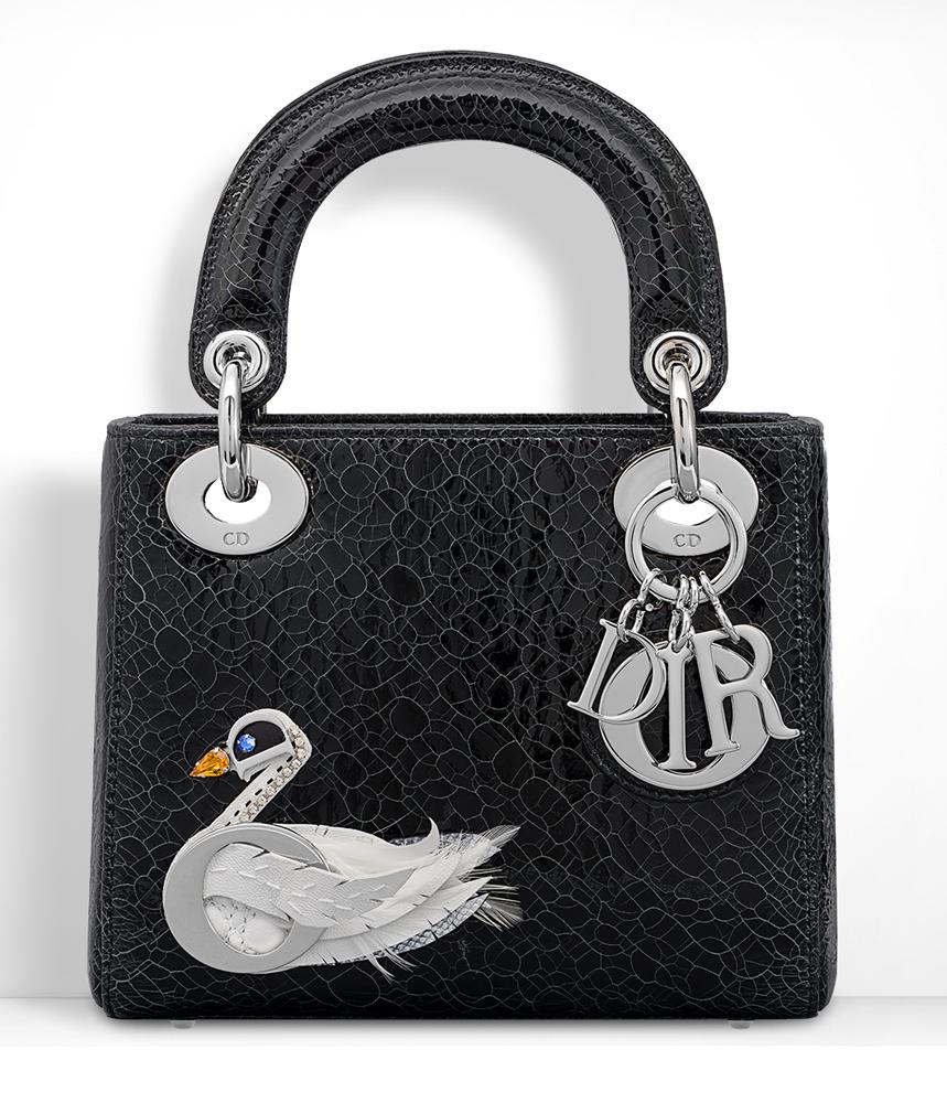Christian-Dior-Mini-Lady-Dior-Bag-Black-Swan