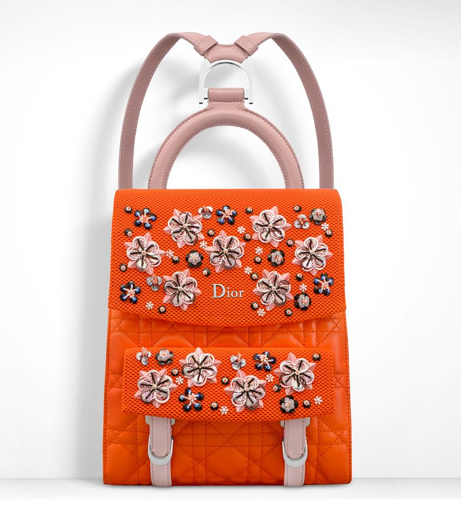 Christian-Dior-Small-Stardust-Backpack-Orange