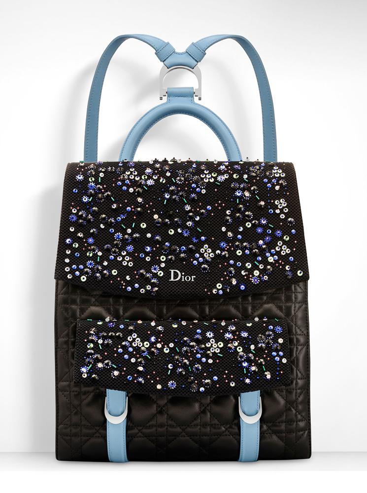 Christian-Dior-Stardust-Backpack-Black-Blue