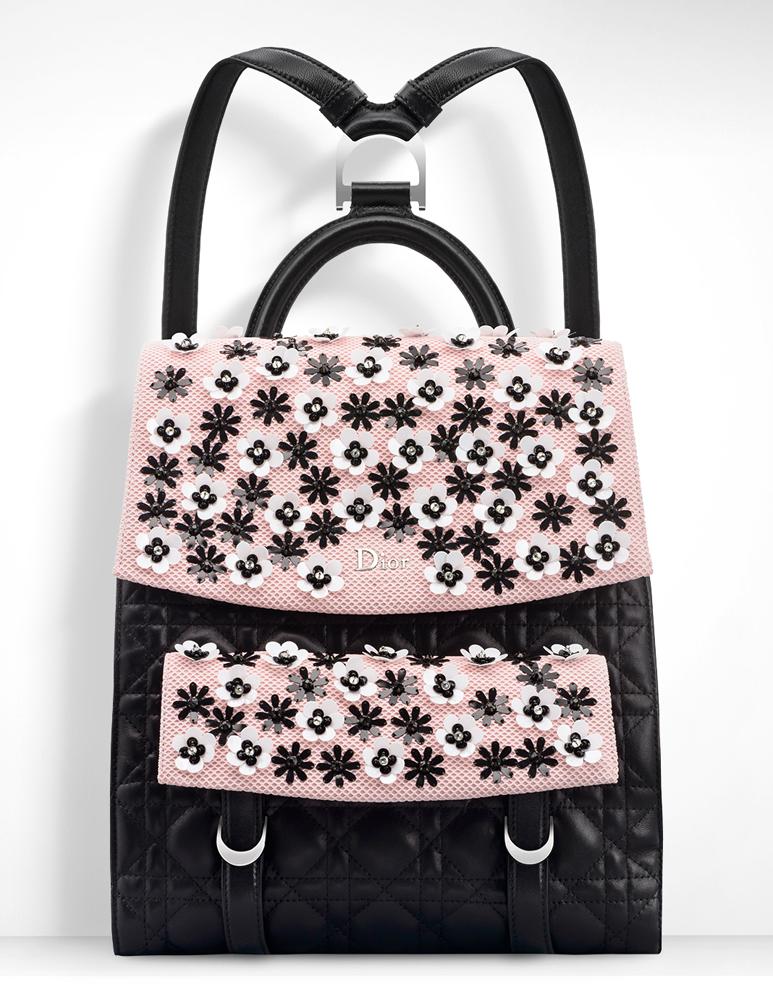 Christian-Dior-Stardust-Backpack-Black-Pink