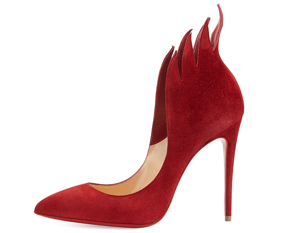 Christian Louboutin Victorina Flame Suede 100mm Red Sole