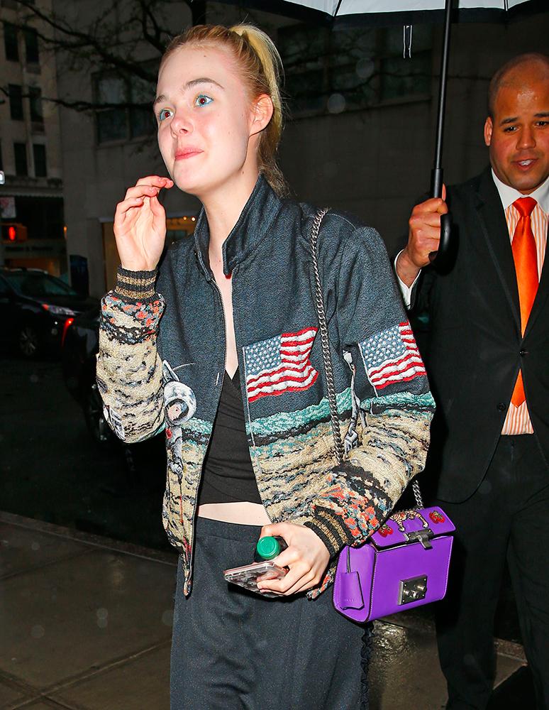 Elle-Fanning-Gucci-Padlock-Bag