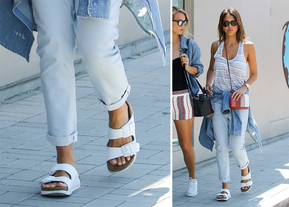 Jessica-Alba-Birkenstock-Arizona-Sandals