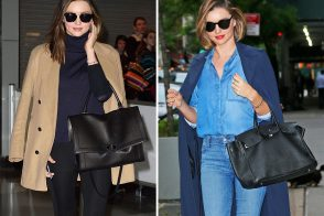 Just Can't Get Enough: Miranda Kerr Loves Her Big, Black Day Bags