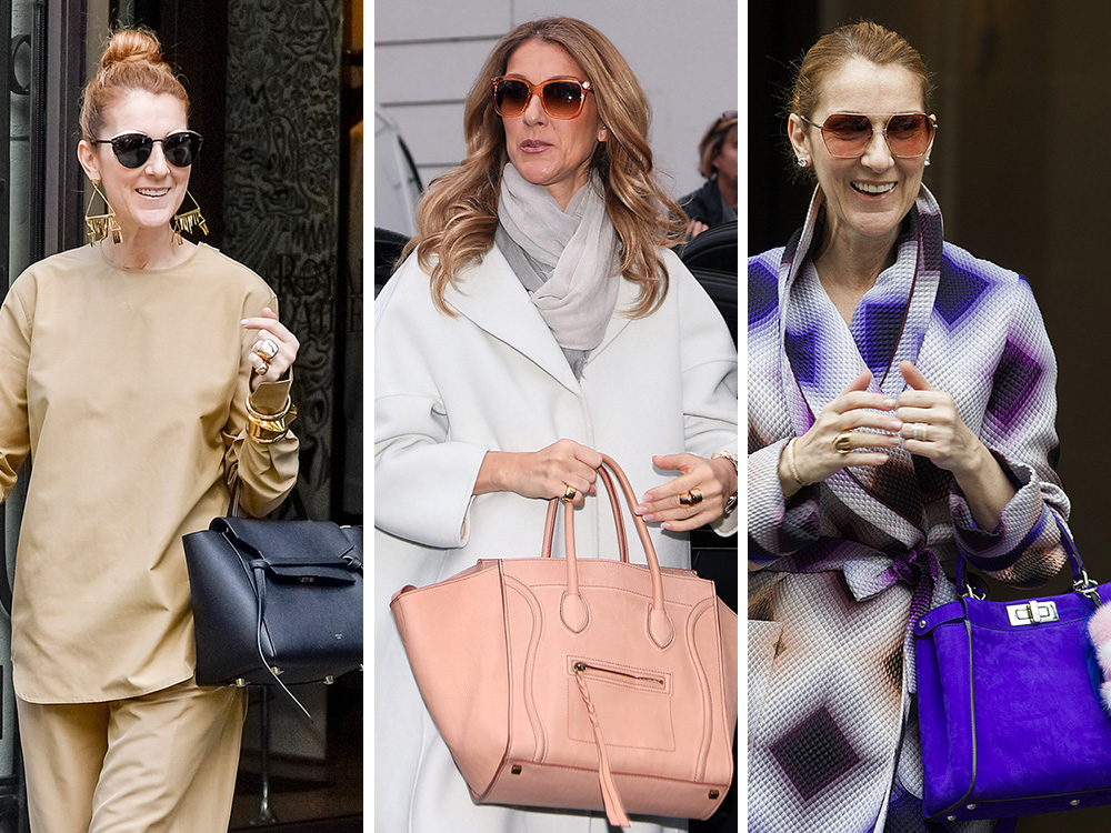 celine taschen - The Many Bags of C��line Dion - PurseBlog