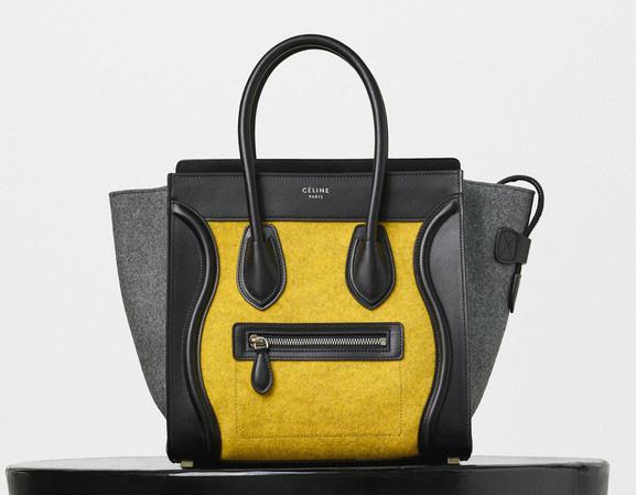 Celine-Micro-Luggage-Tote-Yellow-Felt-2550