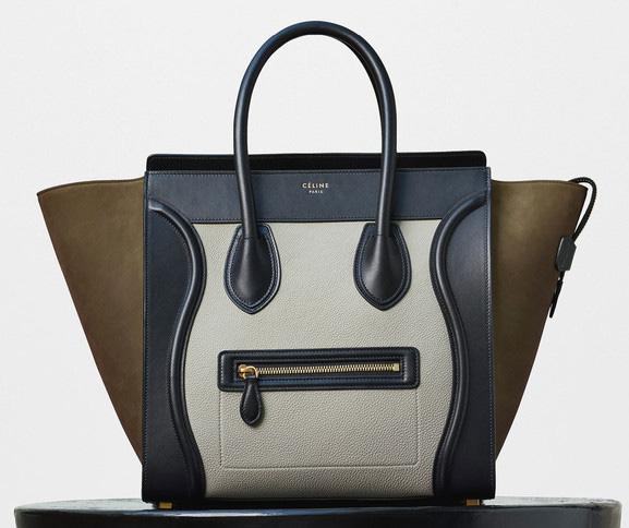 Celine-Mini-Luggage-Tote-Tricolor-Khaki-3600