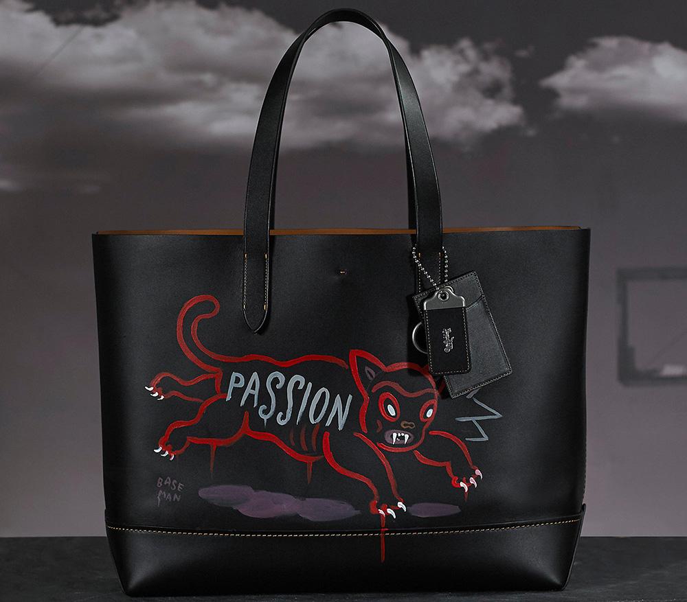 Coach-Baseman-Custom-Painted-Tote-Cat