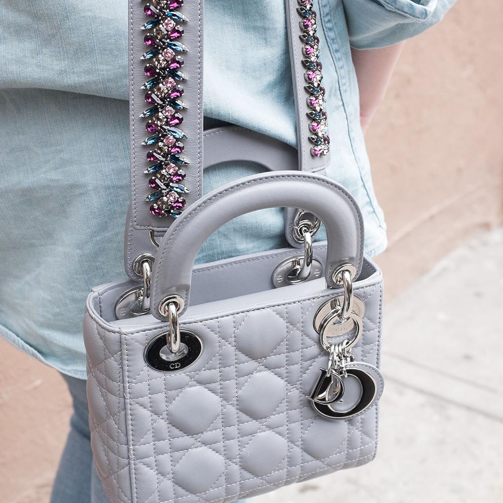 latest obsession dior s mini lady dior bag and embellished strap purseblog. Black Bedroom Furniture Sets. Home Design Ideas