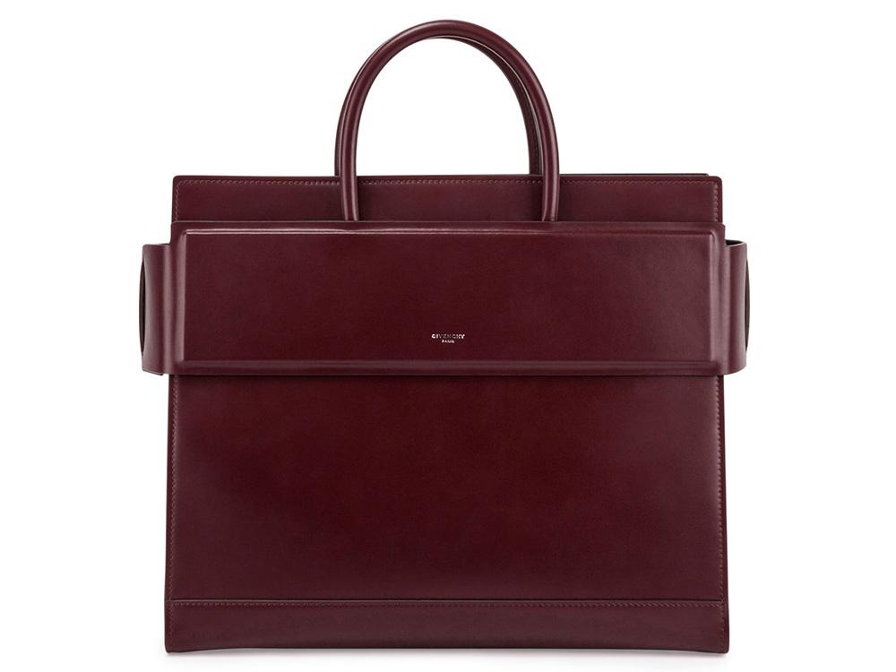 Givenchy-Medium-Horizon-Bag-Burgundy