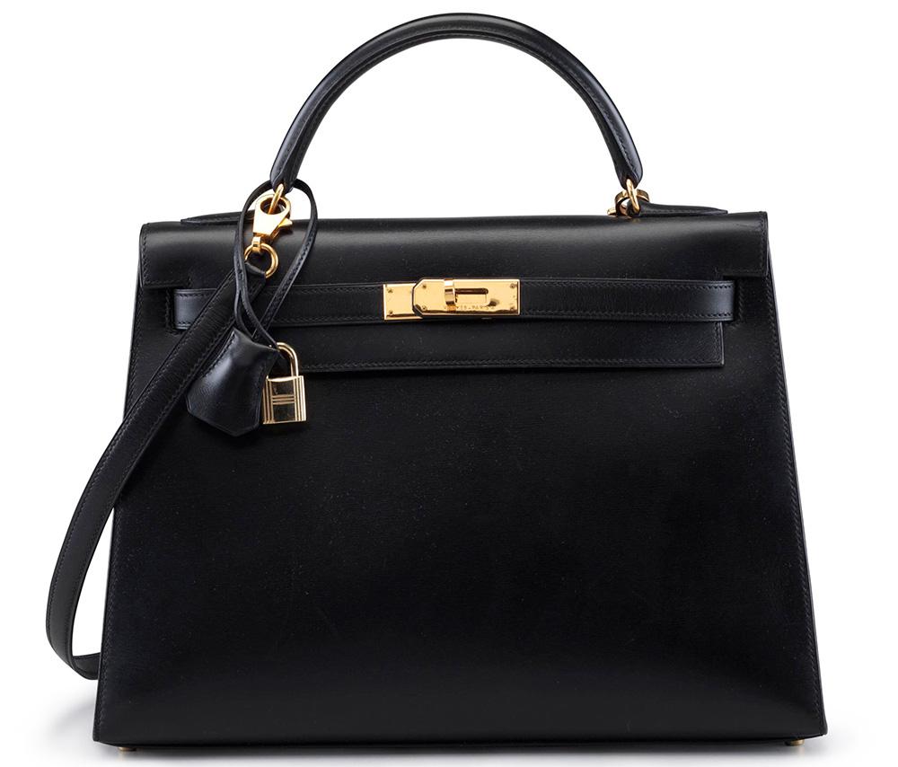 Hermes-Kelly-Bag-Black-Calfbox-Sellier-32cm