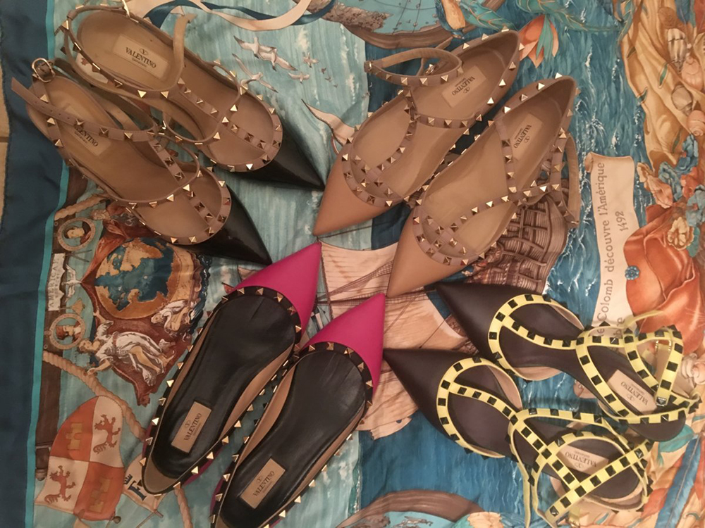 tPF Member: Shrinkbo Shoes: Valentino Rockstud Flats and Pumps  Shop: Similar styles via Neiman Marcus