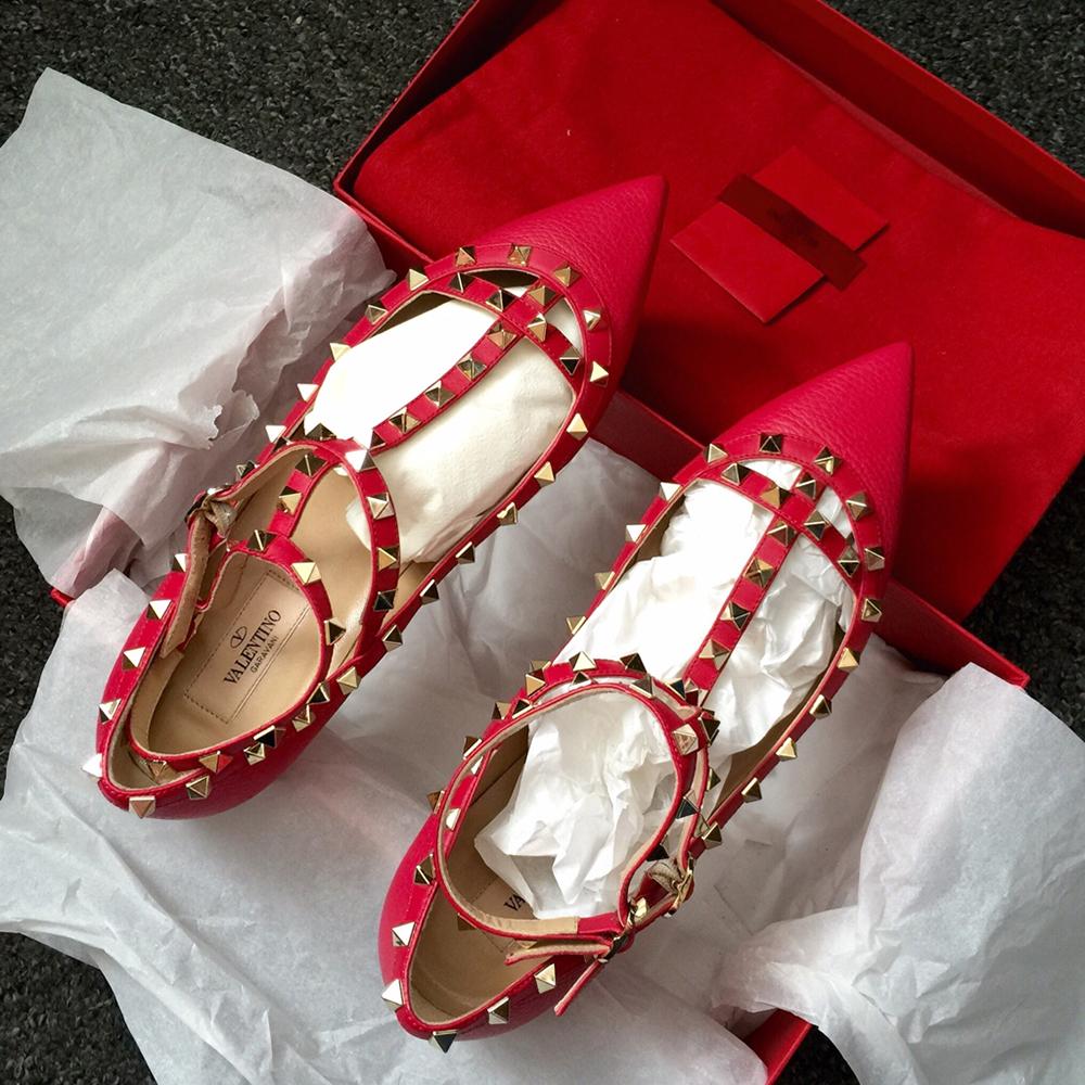 tPF Member: Lazarini Shoes: Valentino Rockstud Flats  Shop: $975 via Nordstrom