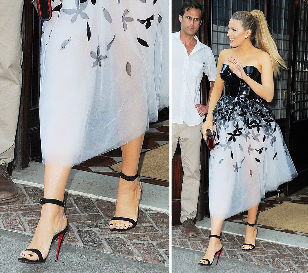 Blake-Lively-Christian-Louboutin-Double-Strap-Sandals