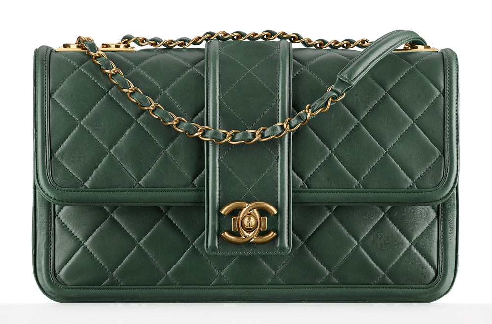 Chanel-Flap-Bag-Green-4900