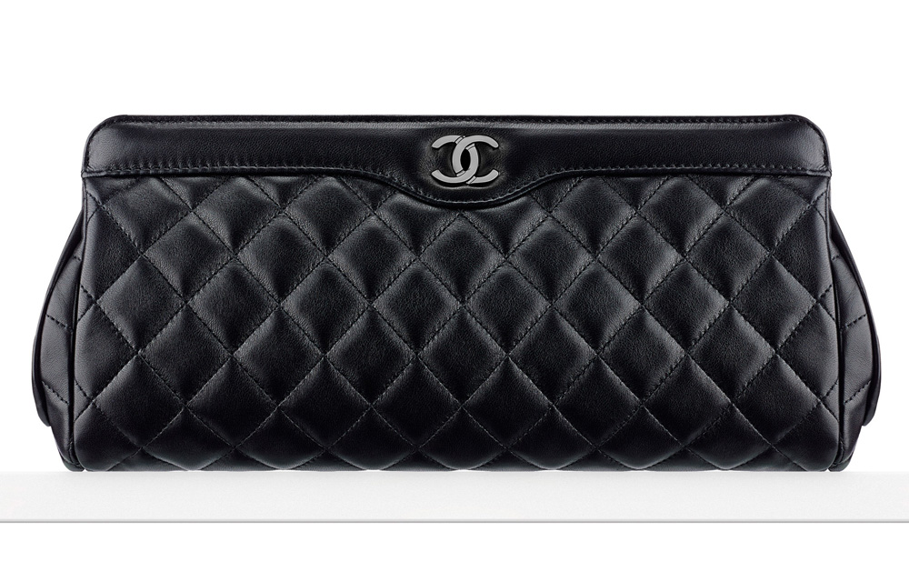 Chanel-Lambskin-Clutch-Black-2400