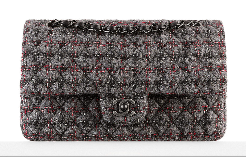 Chanel-Tweed-Flap-Bag-Gray-3600