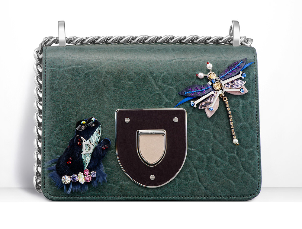 Dior-Diorama-Club-Bag-Green-Embellished