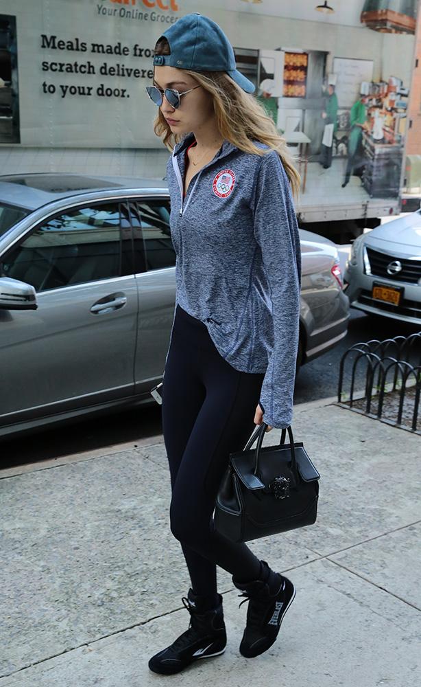 Just Can't Get Enough: Gigi Hadid and Her Versace Palazzo Empire Bag - PurseBlog
