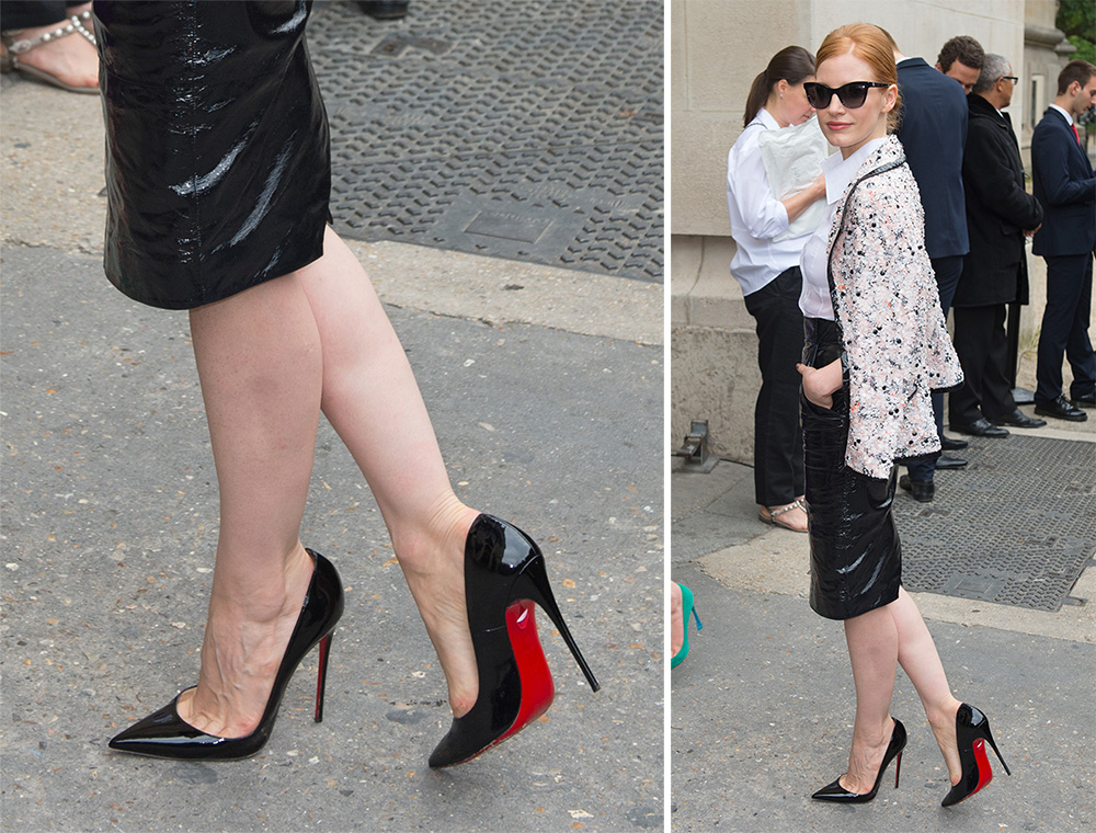 Jessica-Chastain-Christian-Louboutin-So-Kate-Pumps