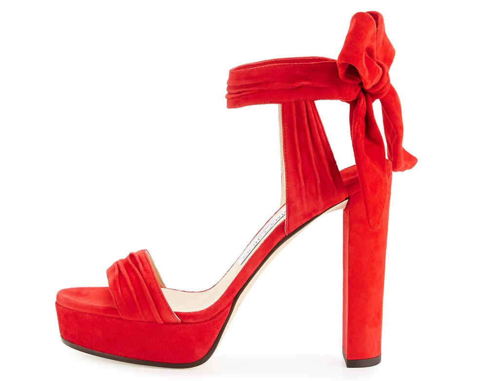 Jimmy Choo Kaytrin Suede Platform Sandal