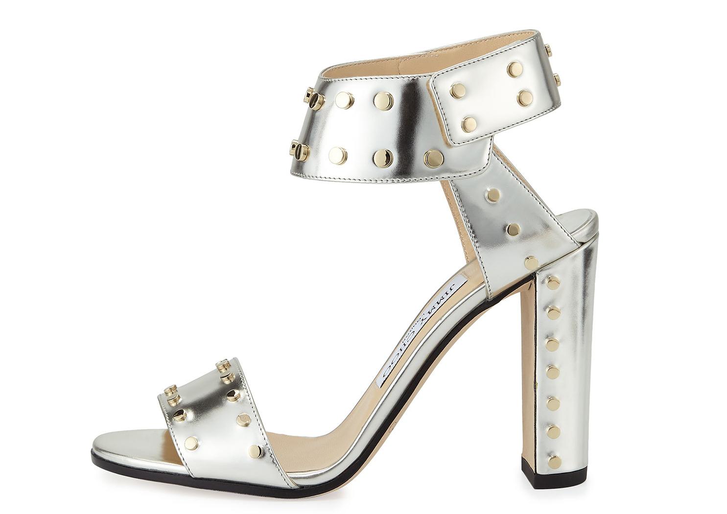 Jimmy Choo Veto Studded Leather Sandal