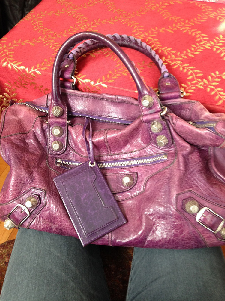 tPF Member: JuneBug Bag: Balenciaga Giant 21 City Bag in 2007 Violet Shop: Similar styles via Balenciaga