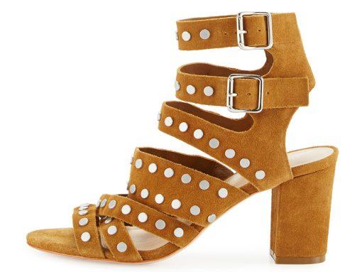 Loeffler Randall Galia Studded Suede Block-Heel Sandal
