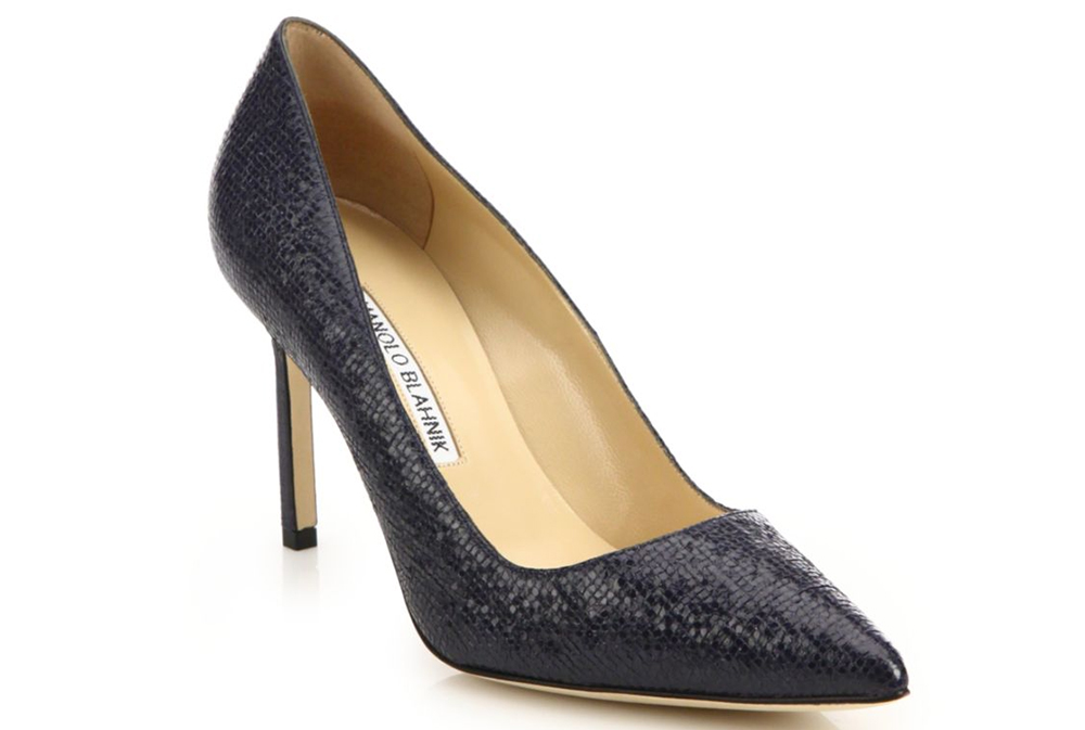 $695 in Embossed Patent Leather Pumps via Saks.