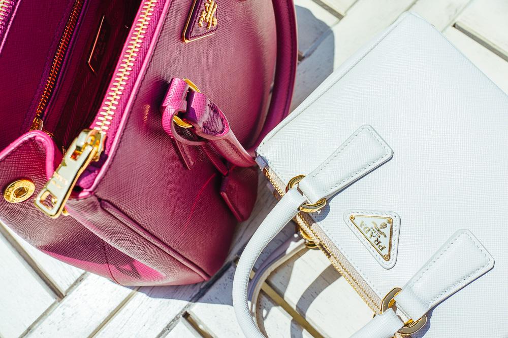 prada handbag with flower