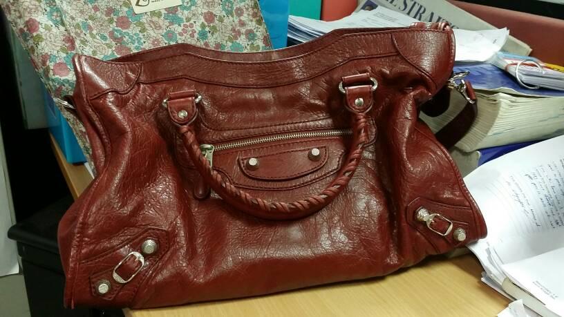 tPF Member: Hmzhh Bag: Balenciaga Giant 12 City Bag in Rouge Cerise  Shop: $1,985 via Balenciaga