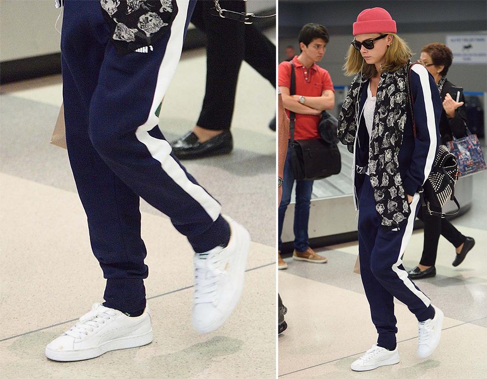 Cara-Delevingne-Puma-Basket-Classic-White-Sneakers