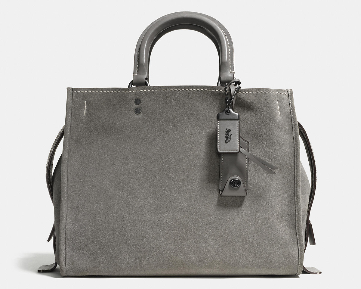 Coach Rogue Bag in Grey Suede