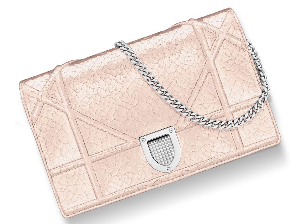 Dior-Diorama-Chain-Wallet-Rose-Gold